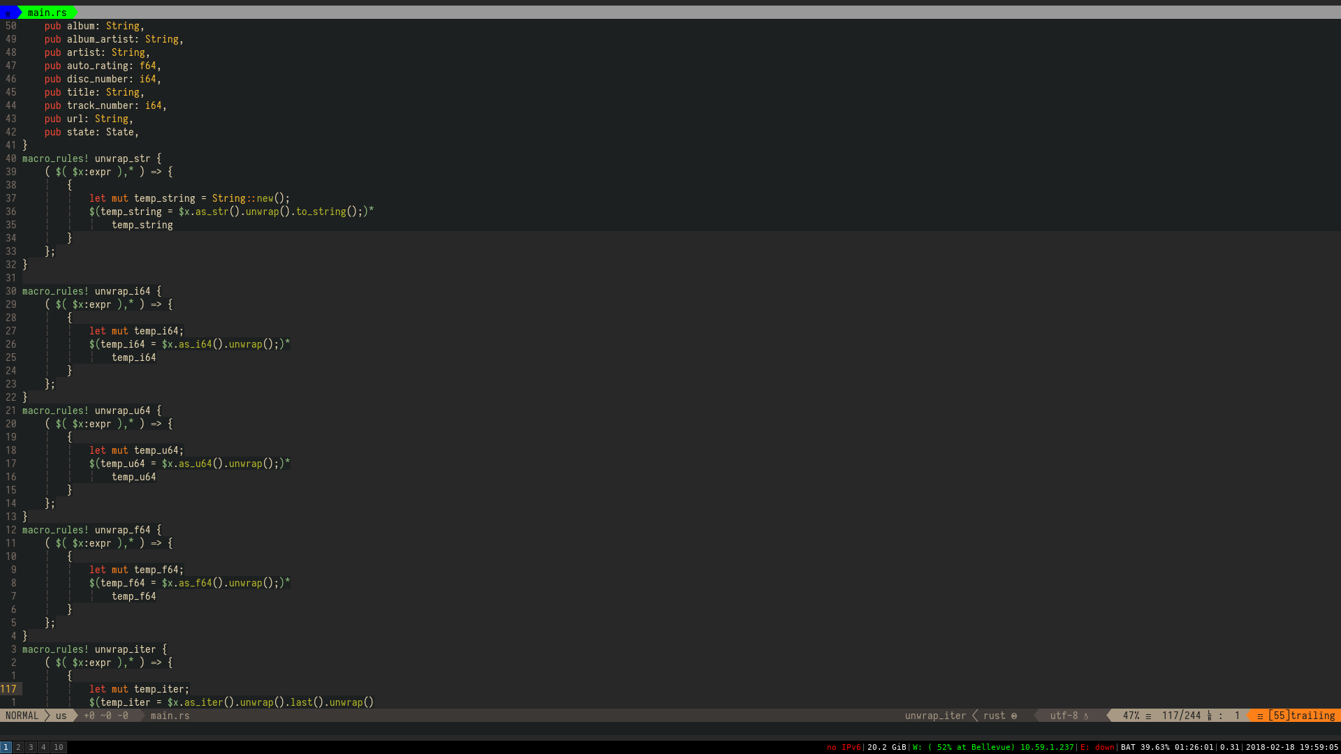 Some Lines S Background Is Discolored Issue 228 Morhetz Gruvbox Github