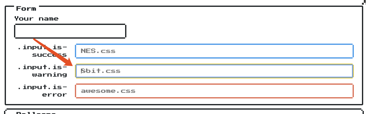 Should remove the input outline · Issue #9 · nostalgic-css