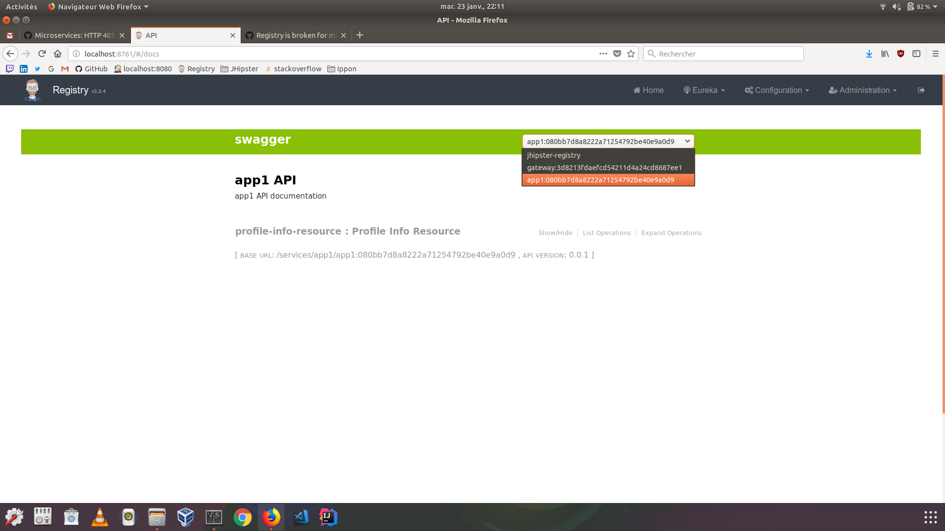 Microservices: HTTP 403 for the micro-app URL /v2/api/docs from the