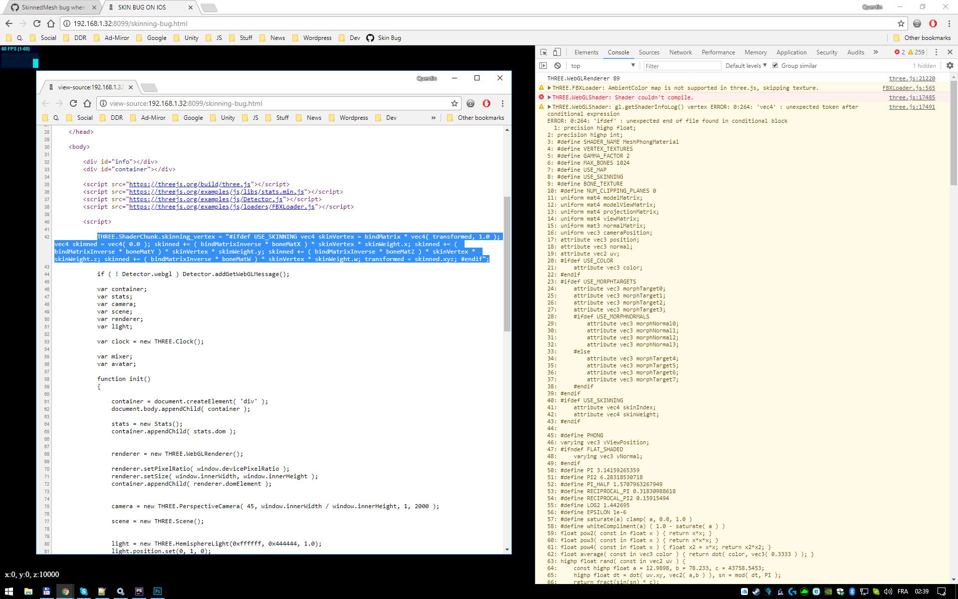 SkinnedMesh bug when far from scene root (0,0,0) -