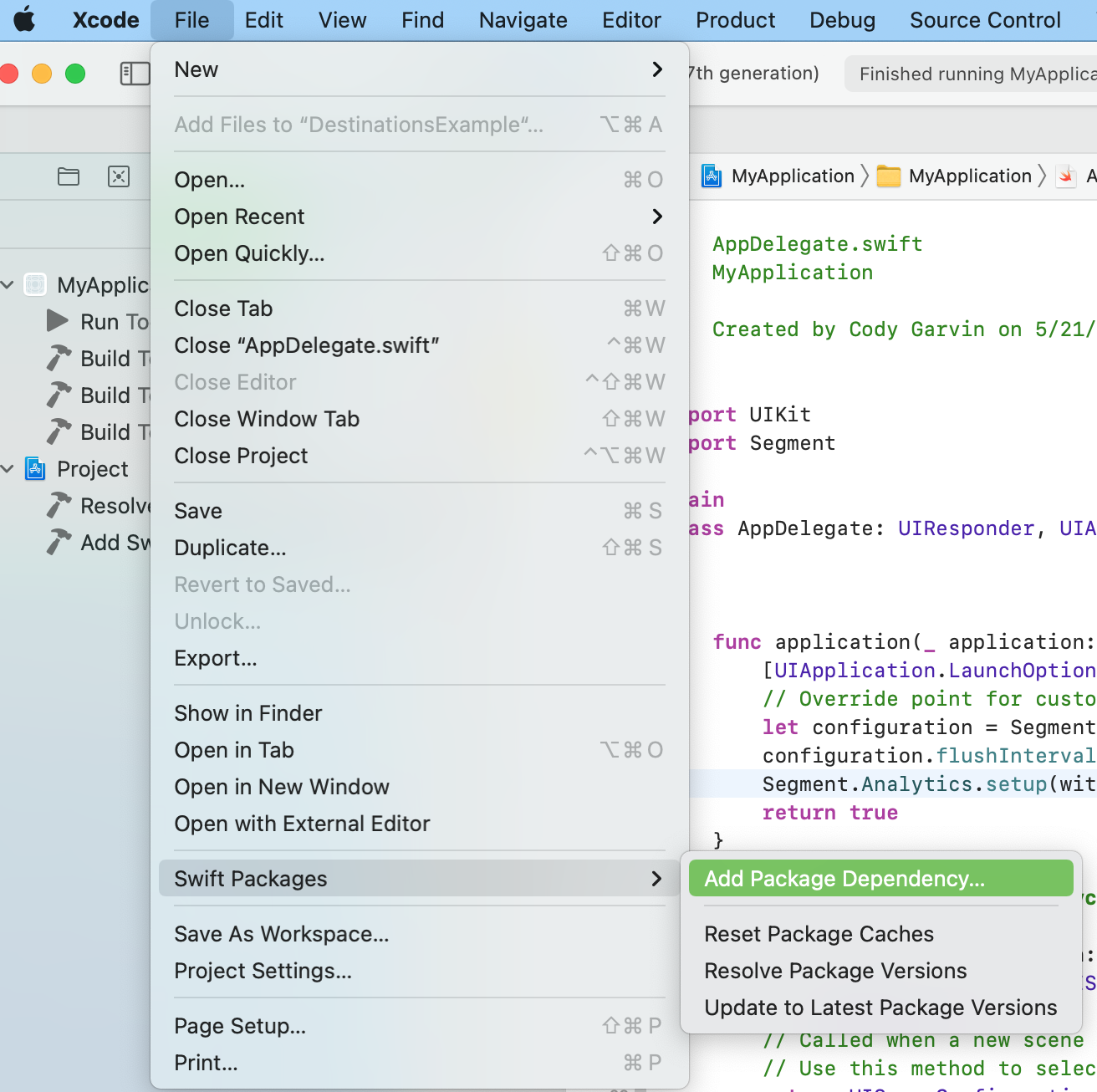 Xcode Add SPM Package