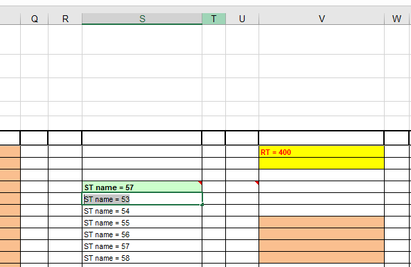 Get data from excel cells which have green color as