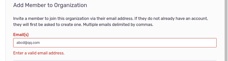9 1 1 can't invite member with qq com email · Issue #13912