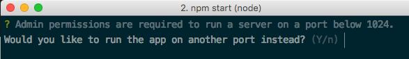 Mac OS port <1024 warning
