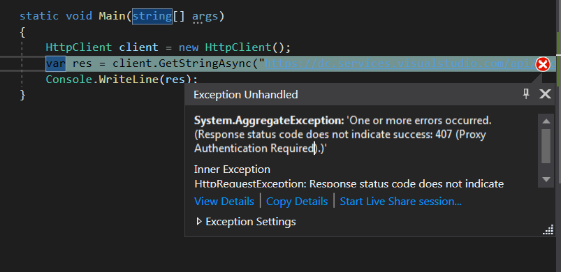 How to specify Proxy Settings · Issue #441 · microsoft