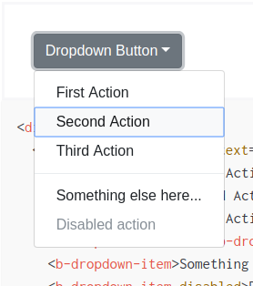 Dropdown item showing a weird blue border · Issue #1320