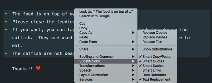 enhancement: text substitutions in macOS · Issue #304 · TryGhost