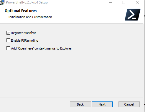 MSI installer run RegisterManifest ps1 and Enable-PSRemoting