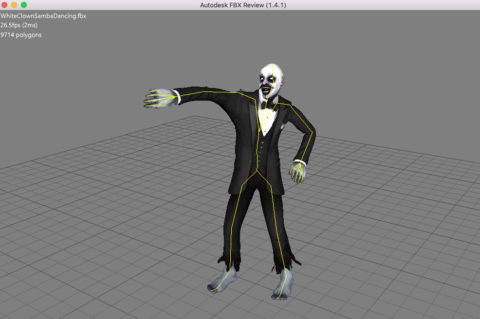 FBXLoader not working with many skeleton animations (e g , from