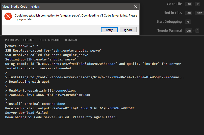 opening remote workspace failing after latest update · Issue #881