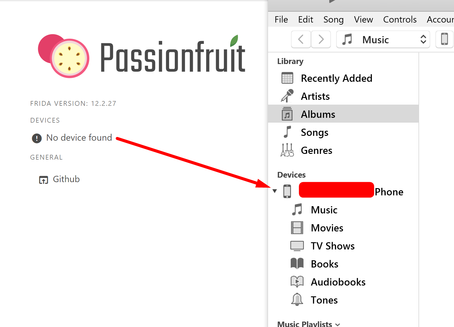 Passionfruit not finding devices on Windows · Issue #41 · chaitin
