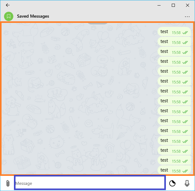 Focus on input after clicking message · Issue #982