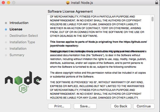 Macos Installer For Node 894 Lts Garbles A Line In License