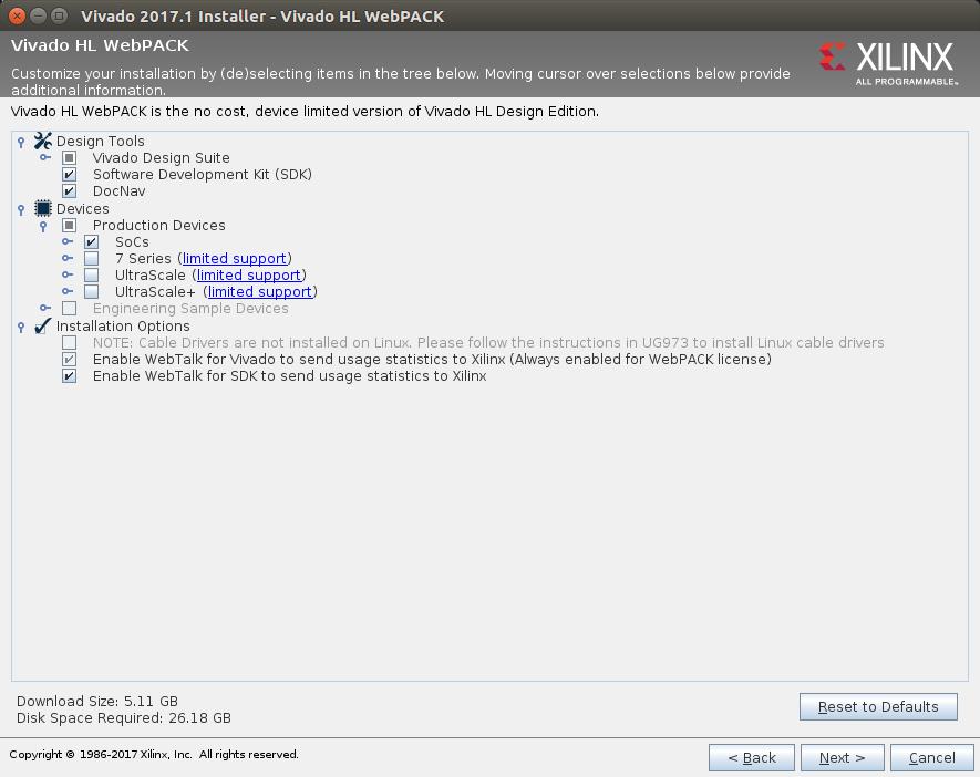 Install Vivado HLx 2017 1 WebPACK on Ubuntu 16 04 | Koheron