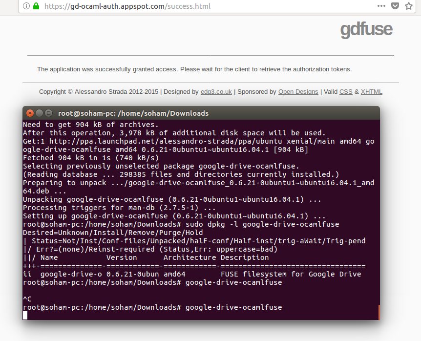 retrieve the authorization tokens not working on my Gapps