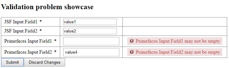 primefaces Input fields on form holds previous value after their
