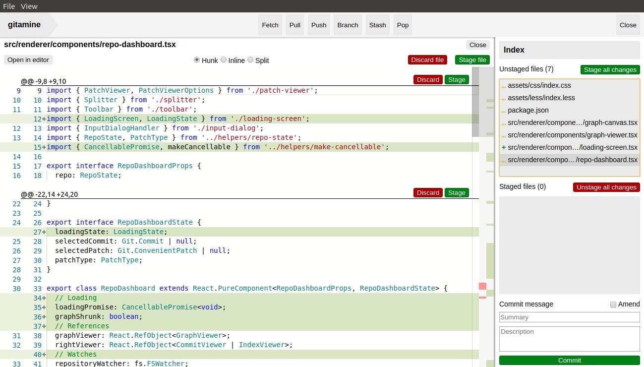 Screenshot of patch viewer