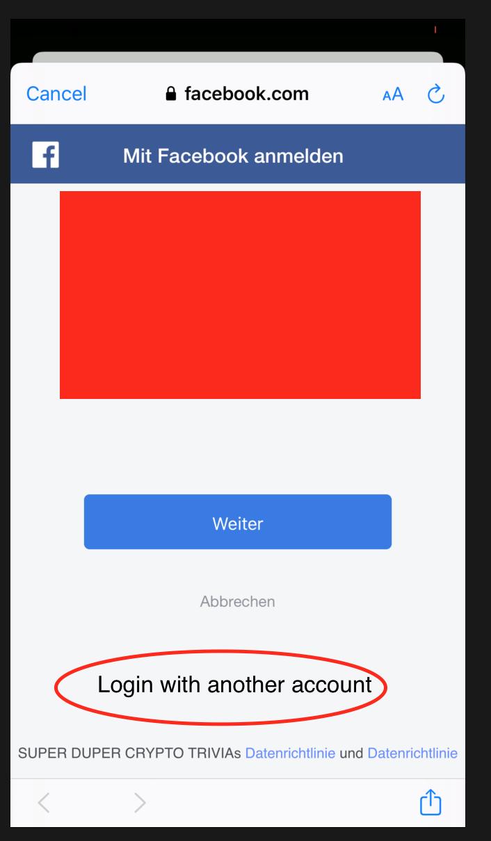 Facebook login anmelden