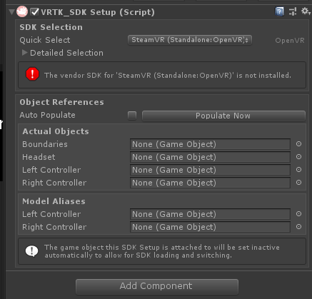 SteamVR 2 0 compatibility · Issue #1904 · ExtendRealityLtd