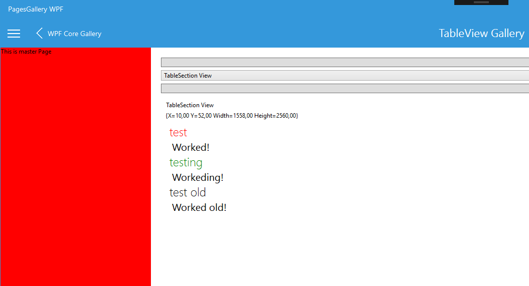 WPF colored headers (red, green and regular)