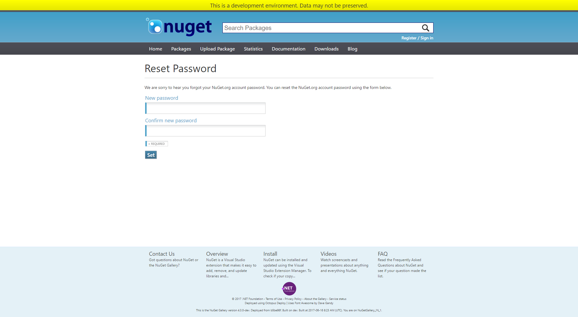 Page: Reset password · Issue #4272 · NuGet/NuGetGallery · GitHub