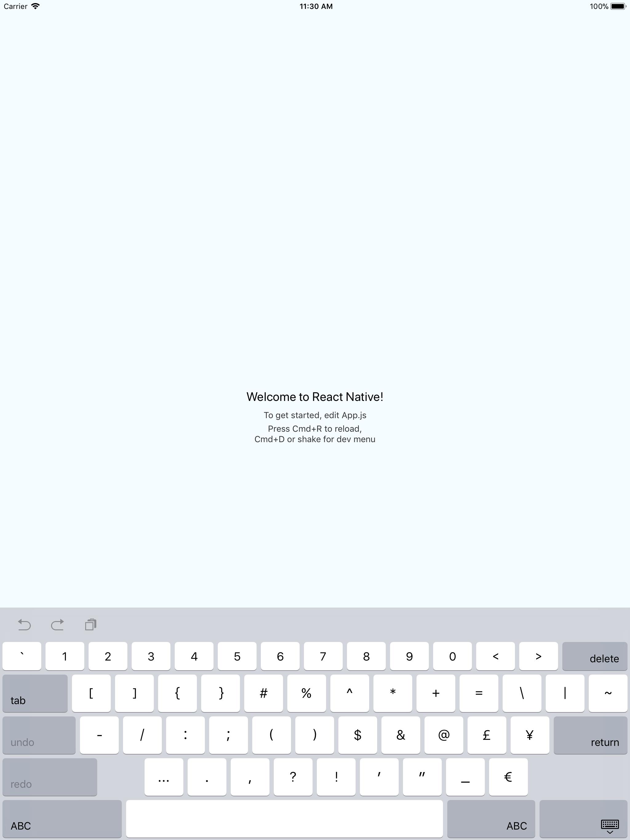 TextInput][iPad] Numeric keyboard type not working · Issue #17793