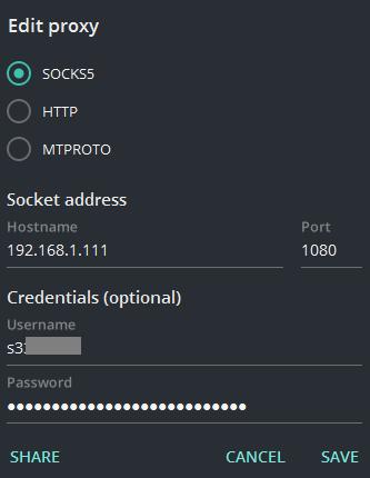 UI: proxy passwords · Issue #4878 · telegramdesktop/tdesktop · GitHub