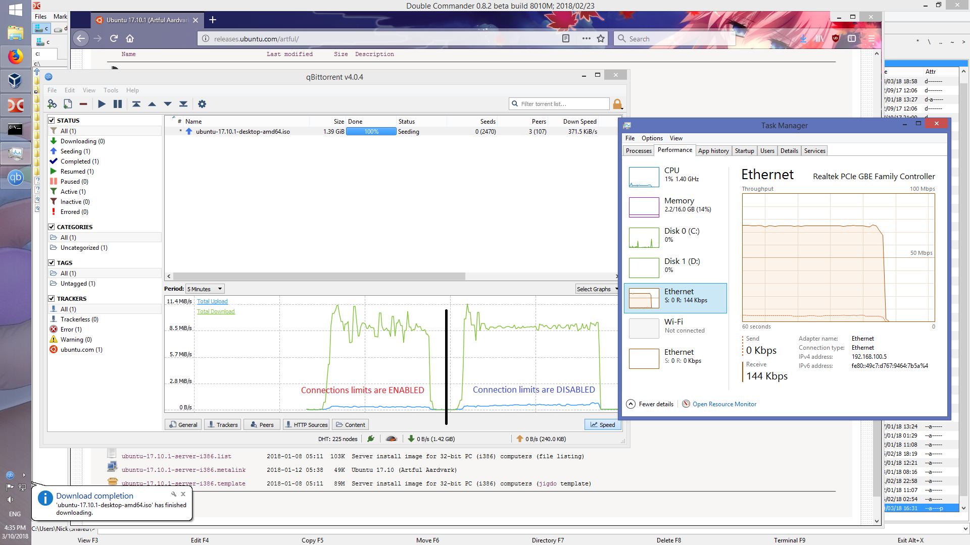 qbittorrent slow download speed windows 10