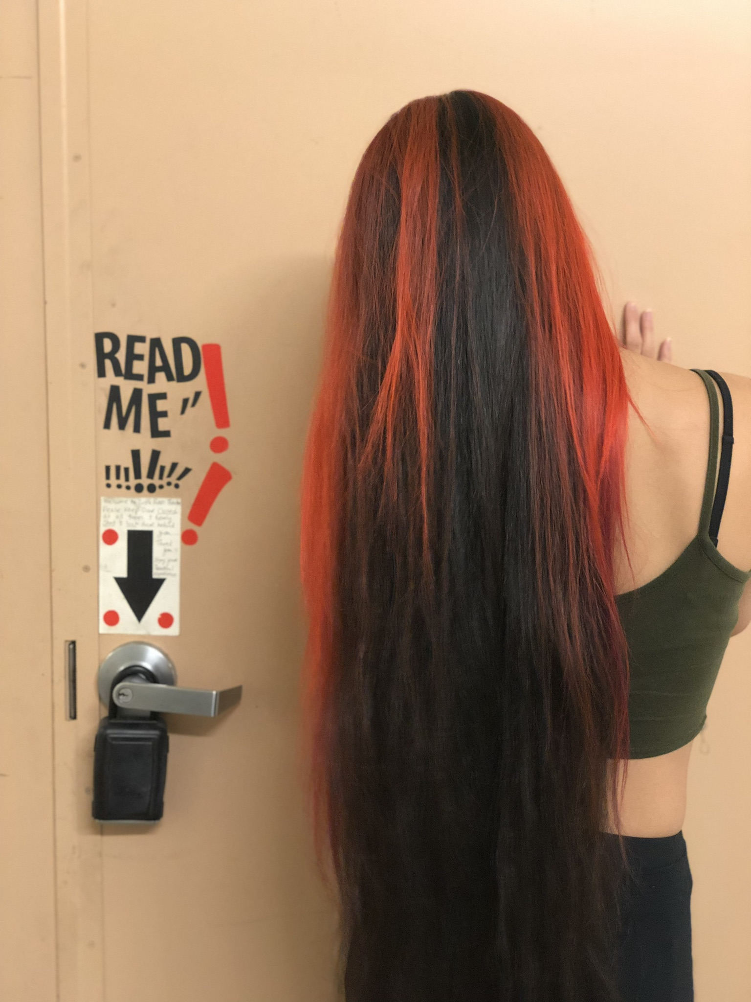 infinite long orange hair