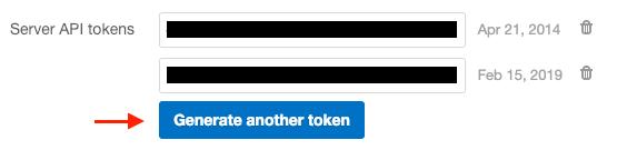 Postmark API tokens