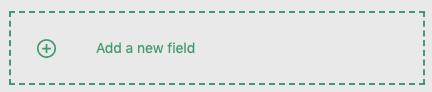 Create New Field Button