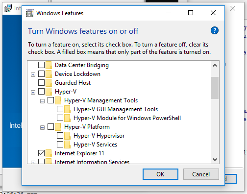 HAXM says Hyper-V is enabled when Windows says it is not