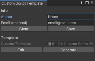 Custom Script Template Editor