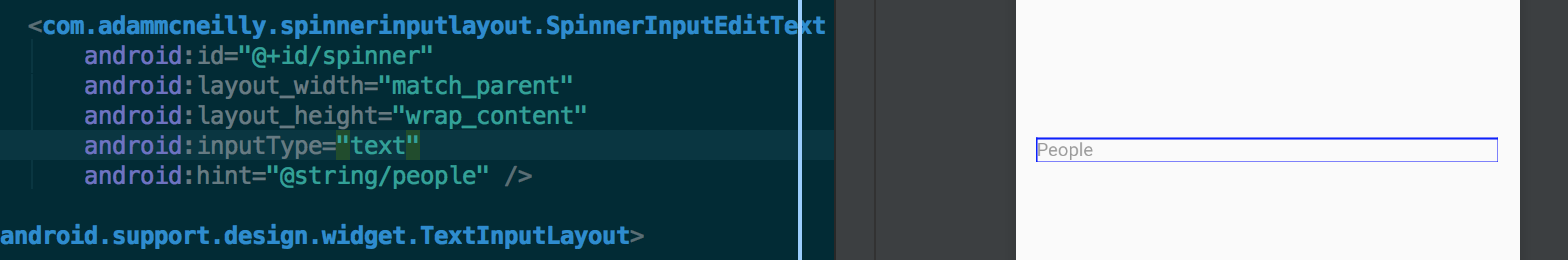 Used to make your EditText a better option than Spinners