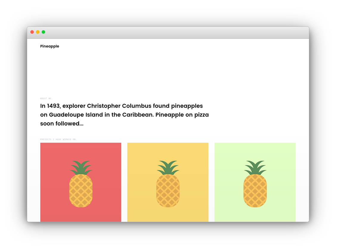 Pineapple screenshot