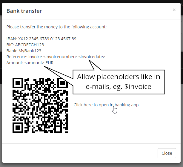 Feature Placeholders In Custom Paymentprovider Issue - Invoice ninja review