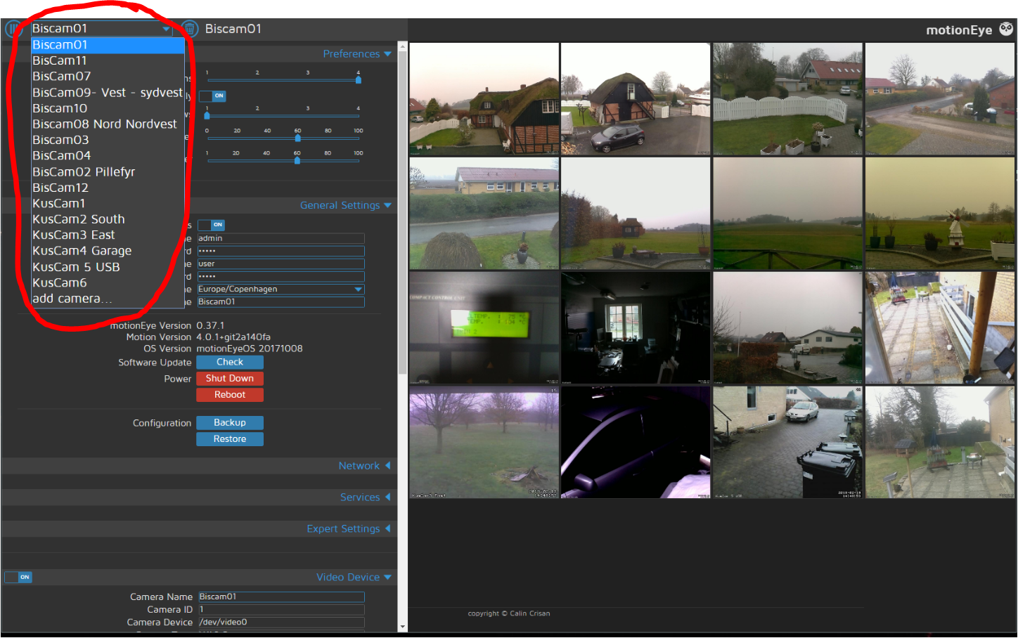 Feature request, Moving arround on MotionEye cameras · Issue #1389