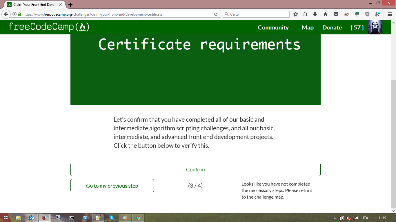 Not Possible To Claim Certificate Even Though All Required Challenges Are Marked Completed Issue 16091 Freecodecamp Freecodecamp Github