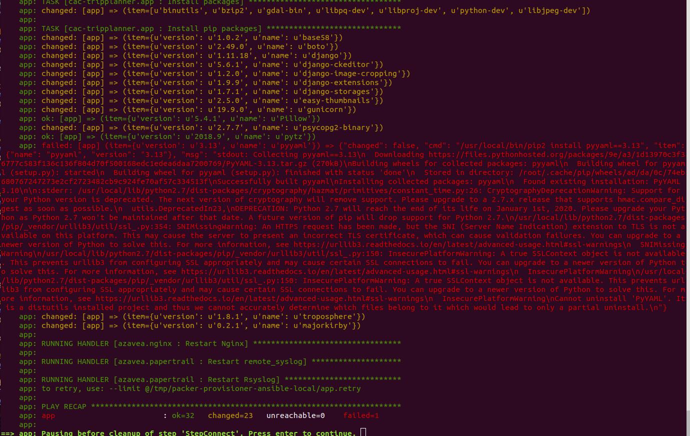 Fix AMI build error when installing Python dependencies