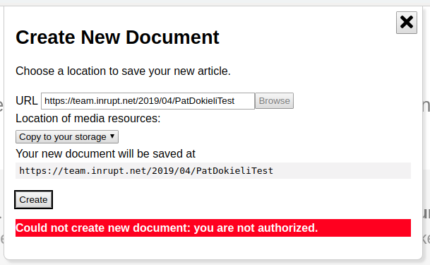 Can't create Dokieli document in POD · Issue #1169 · solid