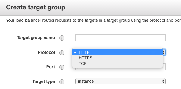 Target group should support TCP protocol · Issue #1914