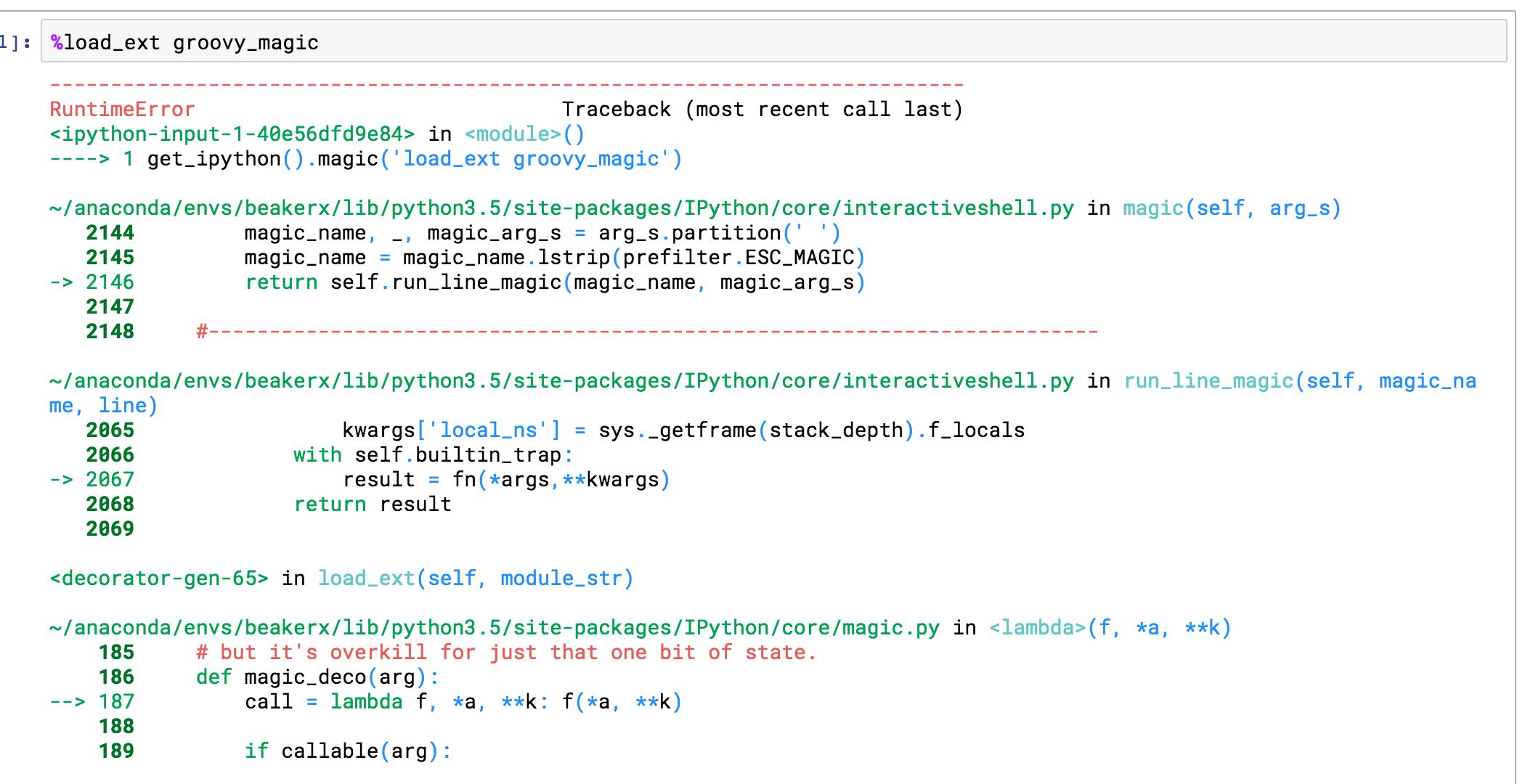 Python Magic to run Groovy broken · Issue #5677 · twosigma
