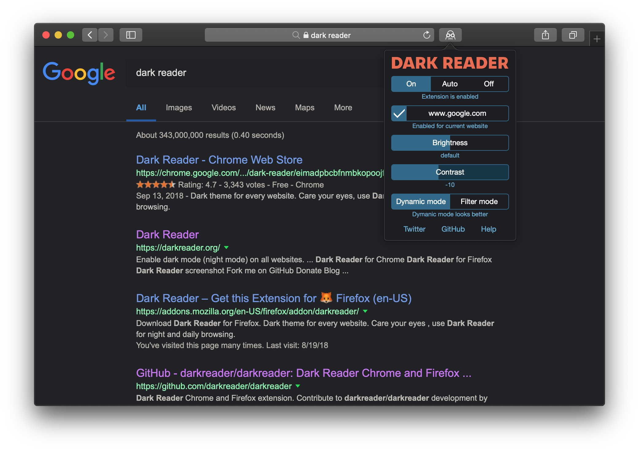 Safari or Tampermonkey versions? · Issue #562 · darkreader
