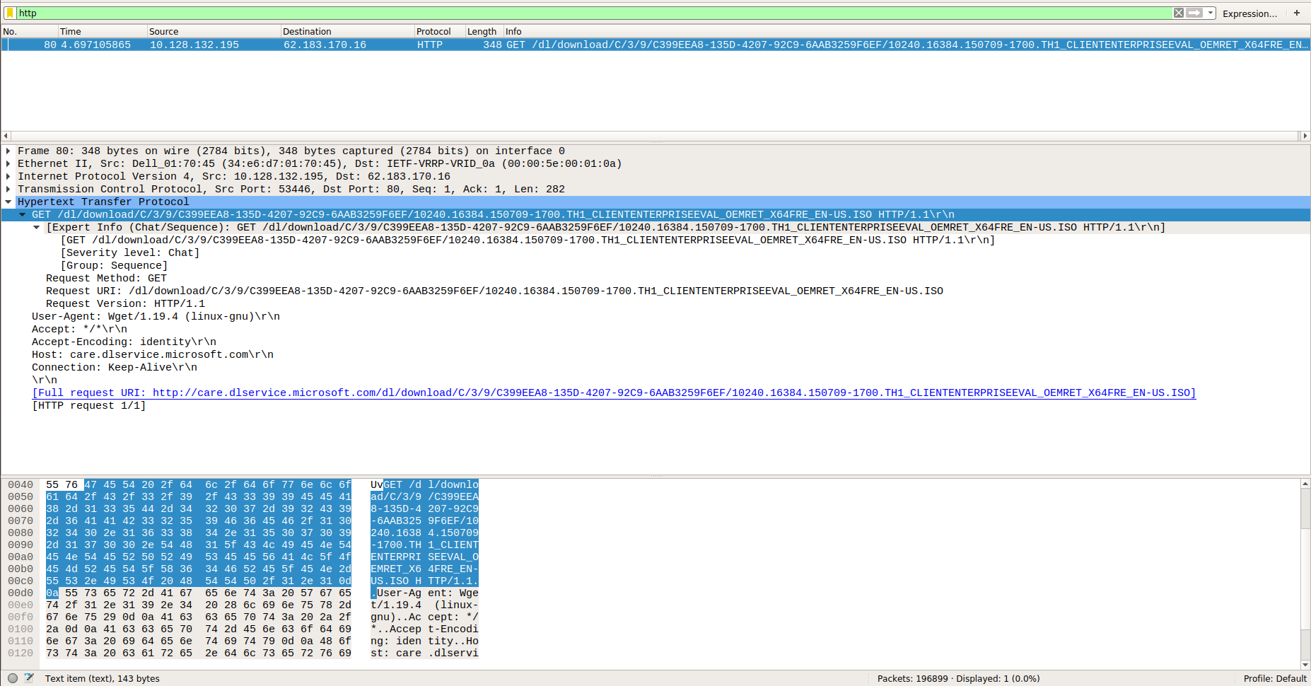 Packer download always fails with 502 Bad Gateway while wget works