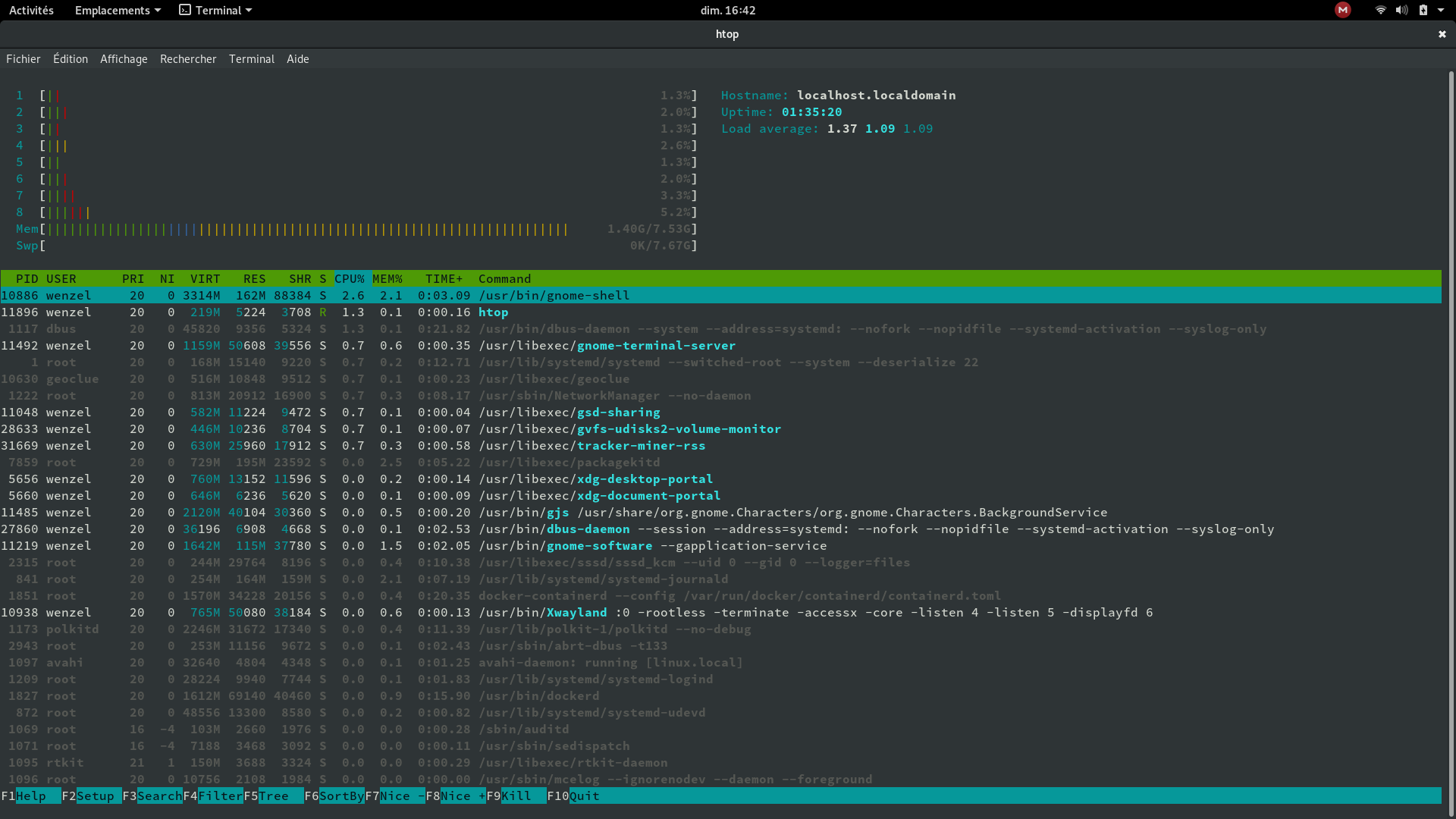 Pleased to see that KDE has the lower RAM usage compared to