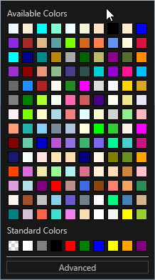 Default available colors palette has too much pastel colors · Issue