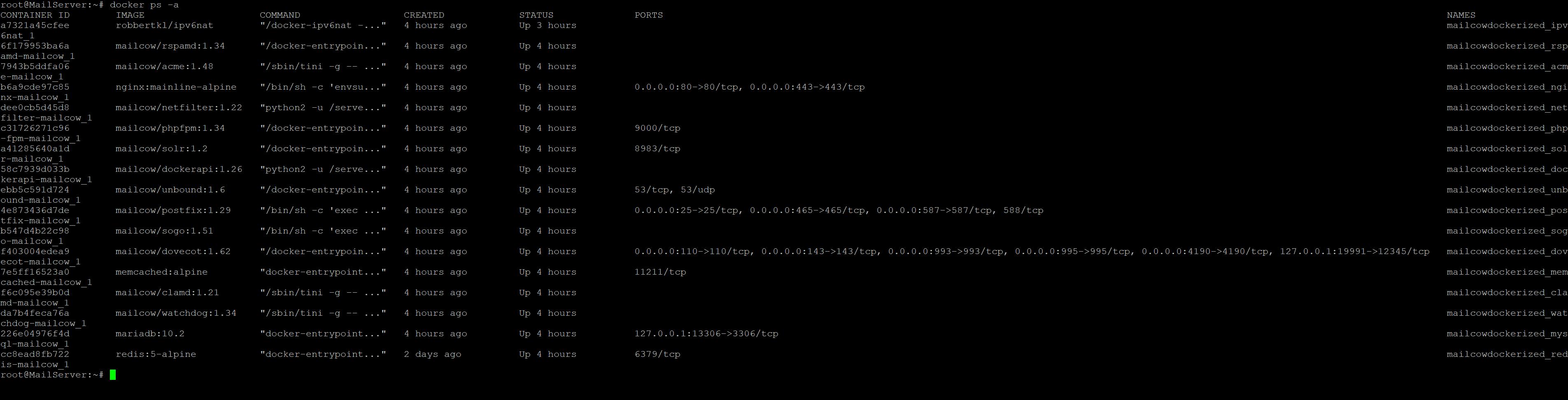 Web interface keeps crashing · Issue #2332 · mailcow/mailcow