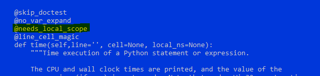 time magic prevents assignment · Issue #11659 · ipython
