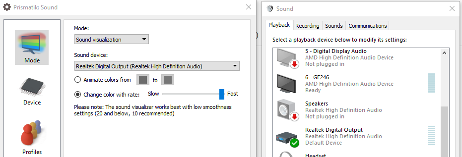 digital optical audio out doesn't work with sound