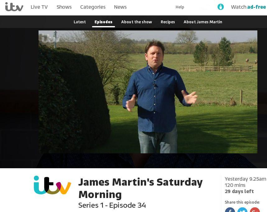 ITV extractor fails for some recently broadcast programmes · Issue